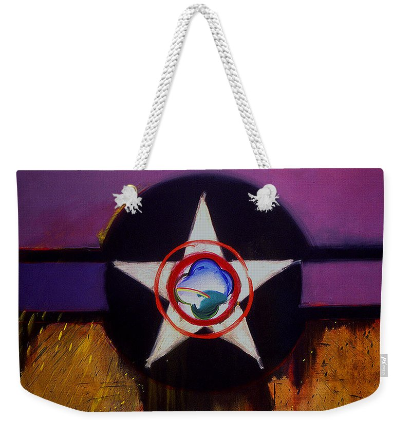 Air Force Insignia Weekender Tote Bag featuring the painting Cheyenne Autumn by Charles Stuart