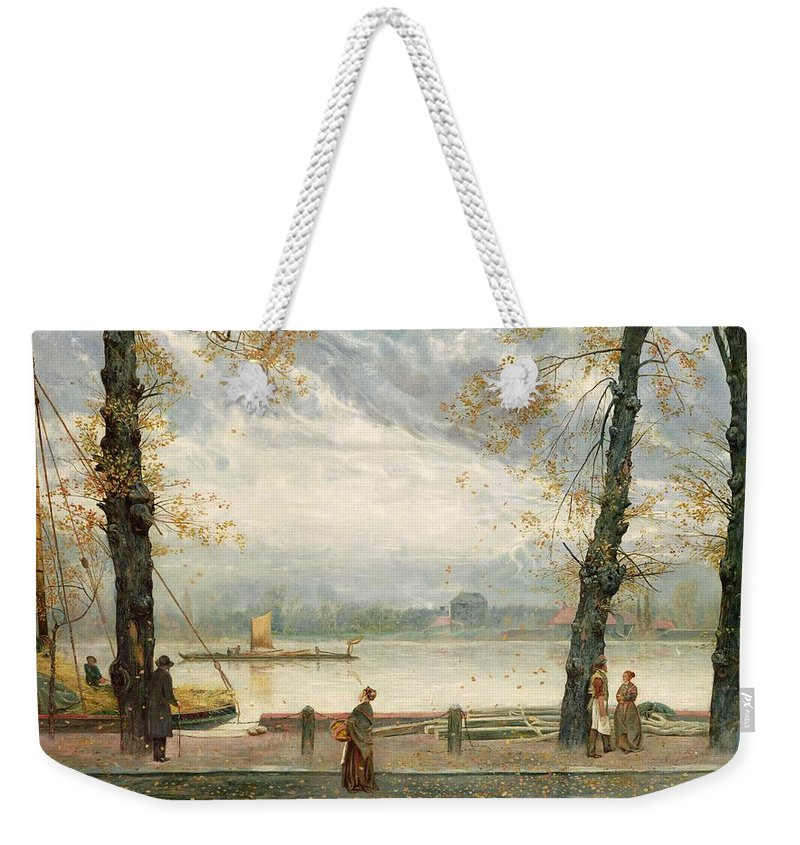 Cheyne Weekender Tote Bag featuring the painting Cheyne Walk by Cecil Gordon Lawson