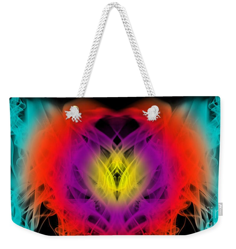 Clay Weekender Tote Bag featuring the digital art Chi by Clayton Bruster