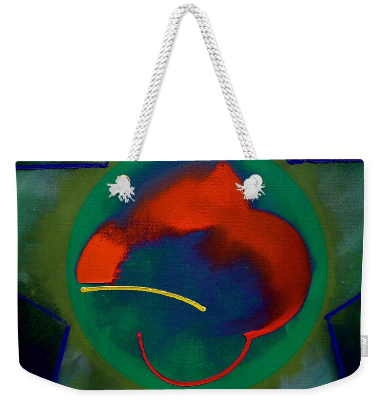 Landscape Weekender Tote Bag featuring the painting Chi Na by Charles Stuart