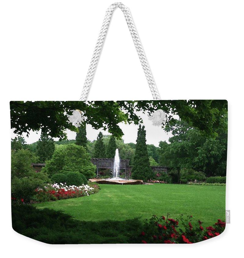 Landscape Weekender Tote Bag featuring the photograph Chicago Botanical Gardens Landscape by Steve Karol