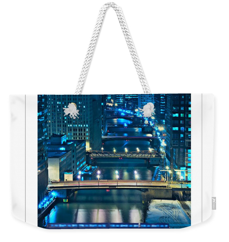 Bridge Weekender Tote Bag featuring the photograph Chicago Bridges Poster by Steve Gadomski