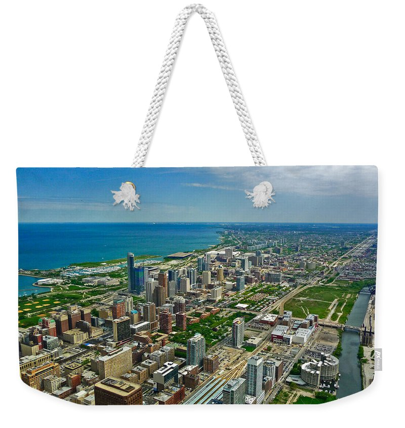 Chicago Weekender Tote Bag featuring the photograph Chicago East View by Ginger Wakem