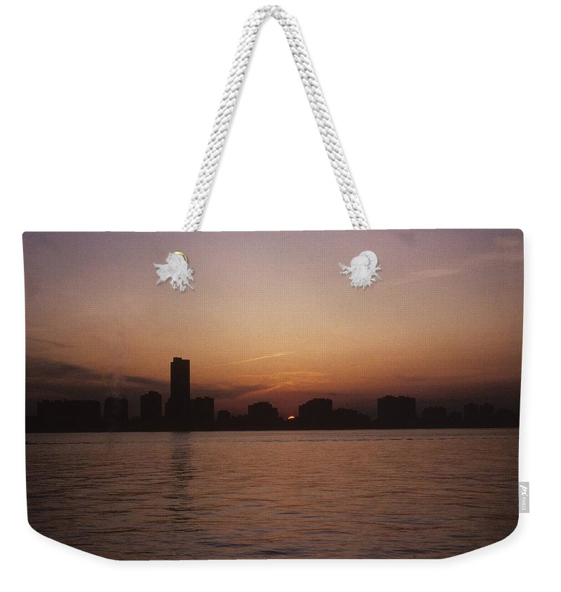Chicago Weekender Tote Bag featuring the photograph Chicago Sunset by Gary Wonning