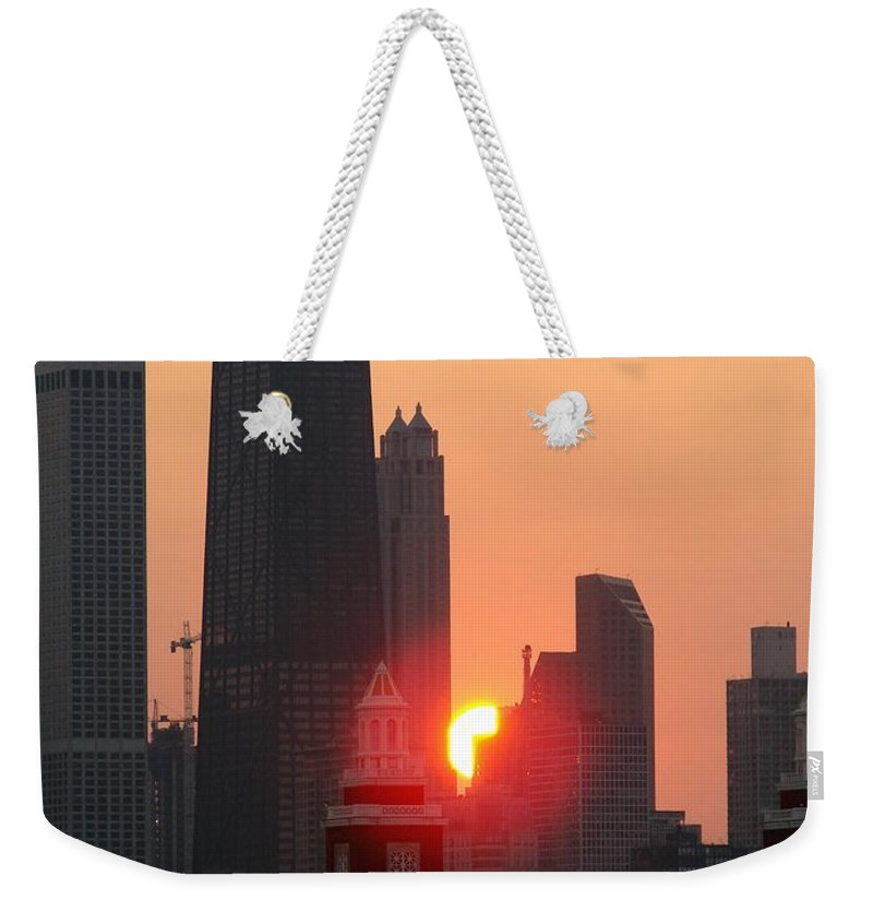 Photography Weekender Tote Bag featuring the photograph Chicago Sunset by Glory Fraulein Wolfe
