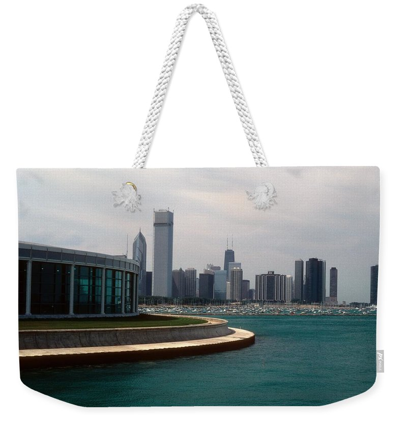 Chicago Weekender Tote Bag featuring the photograph Chicago Waterfront by Gary Wonning