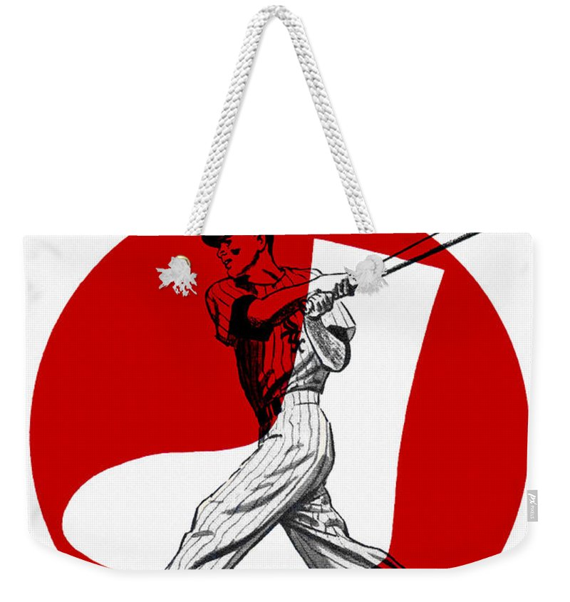 Chicago White Sox Weekender Tote Bag featuring the painting Chicago White Sox 1960 Scorebook by John Farr
