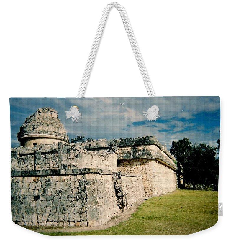 Chitchen Itza Weekender Tote Bag featuring the photograph Chichen Itza 1 by Anita Burgermeister