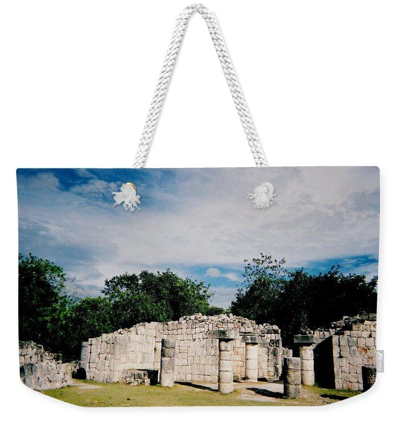 Chitchen Itza Weekender Tote Bag featuring the photograph Chichen Itza 2 by Anita Burgermeister