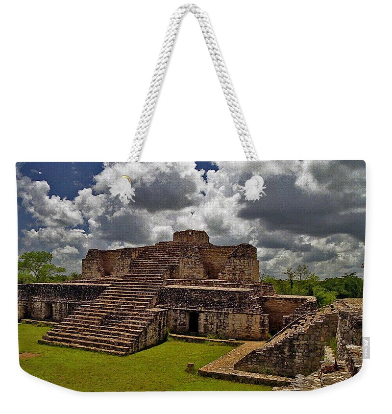 Mayan Weekender Tote Bag featuring the photograph Chichen Itza 2 by Michael Peychich