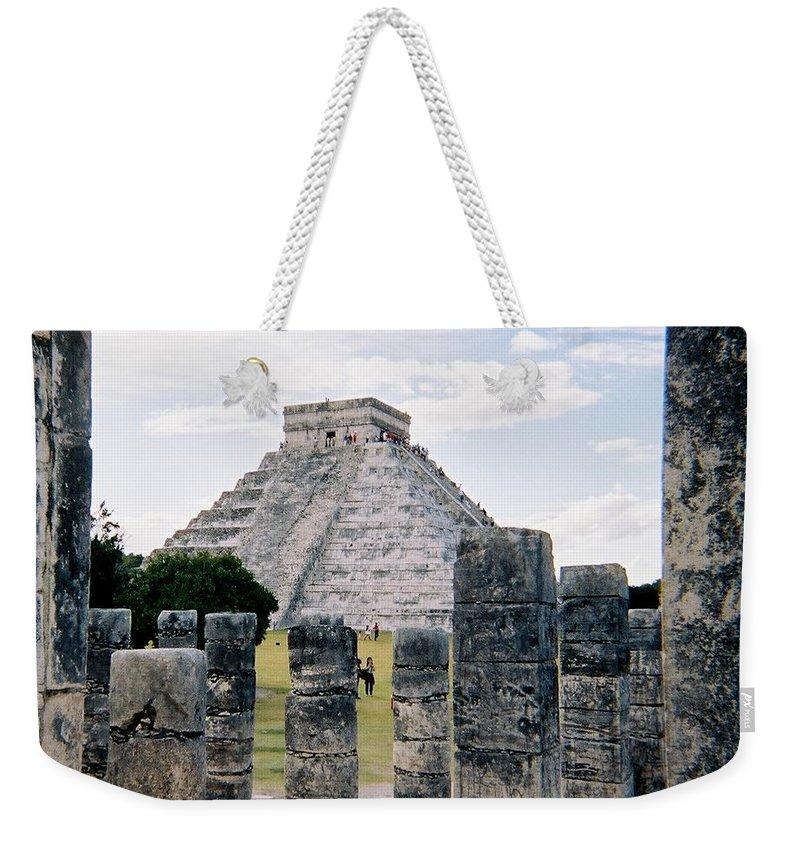 Chitchen Itza Weekender Tote Bag featuring the photograph Chichen Itza 3 by Anita Burgermeister