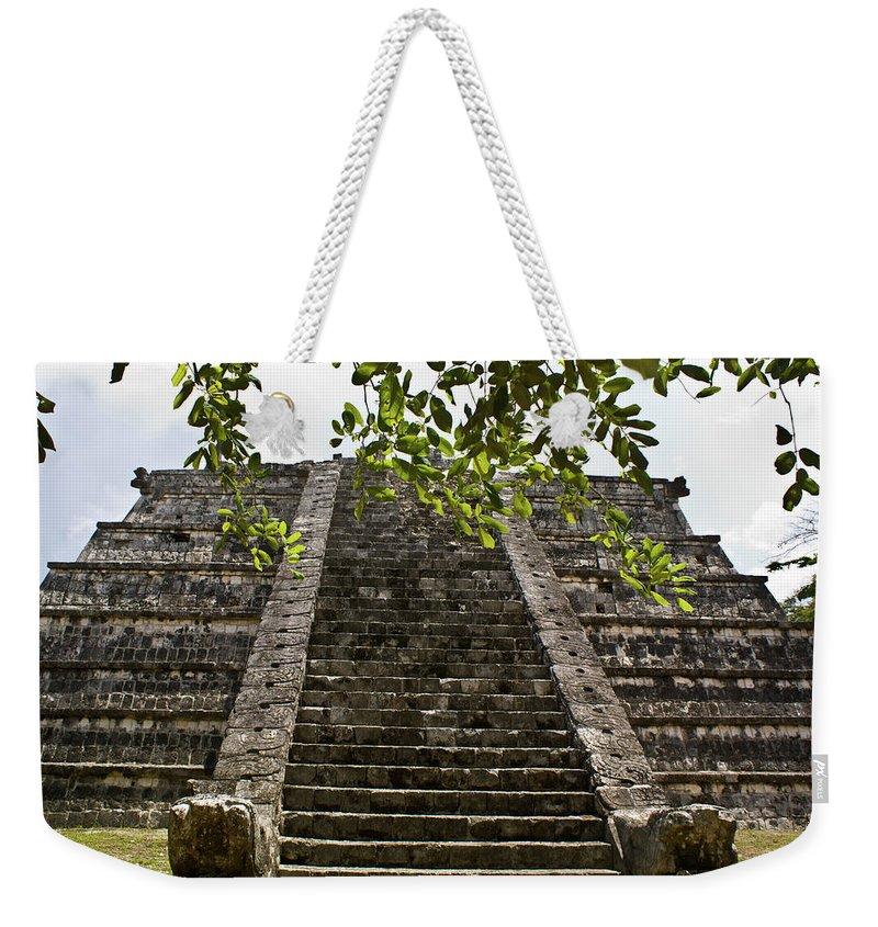Chichen Itza Weekender Tote Bag featuring the photograph Chichen Itza 3 by Douglas Barnett