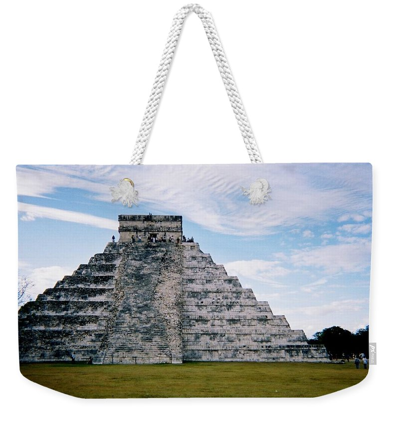 Chitchen Itza Weekender Tote Bag featuring the photograph Chichen Itza 4 by Anita Burgermeister