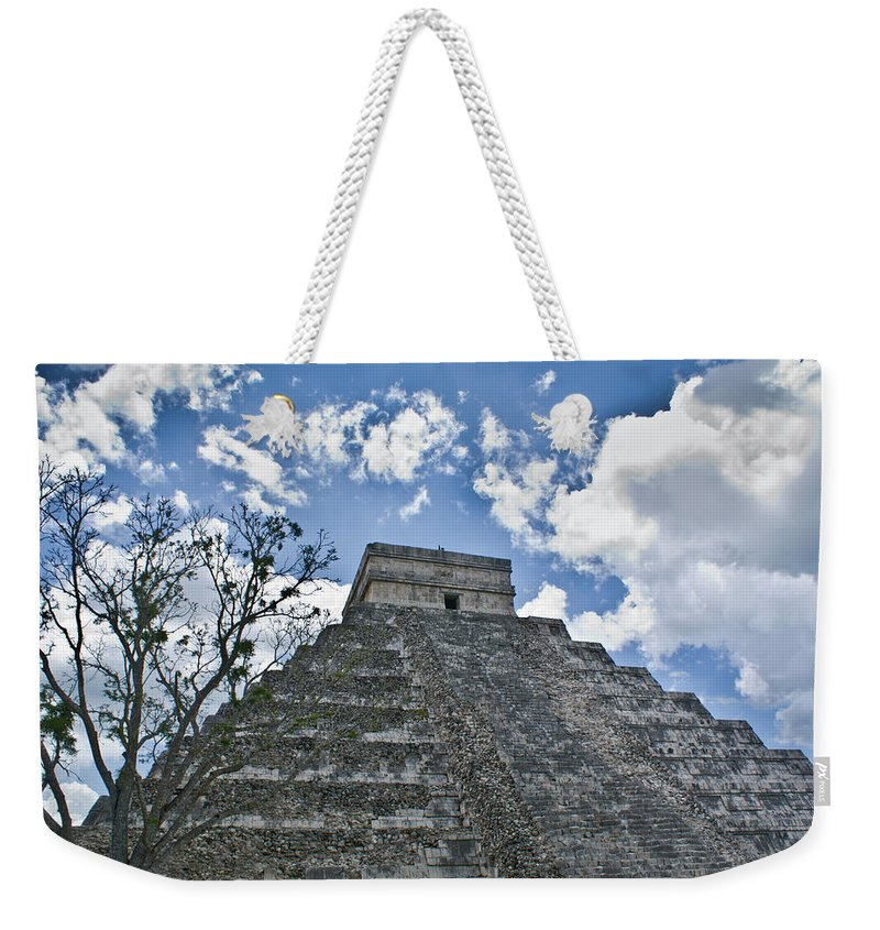 Chichen Itza Weekender Tote Bag featuring the photograph Chichen Itza 5 by Douglas Barnett
