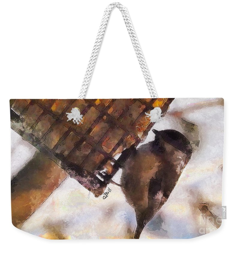 Bird Weekender Tote Bag featuring the photograph Chickadee Dee Dee by Claire Bull