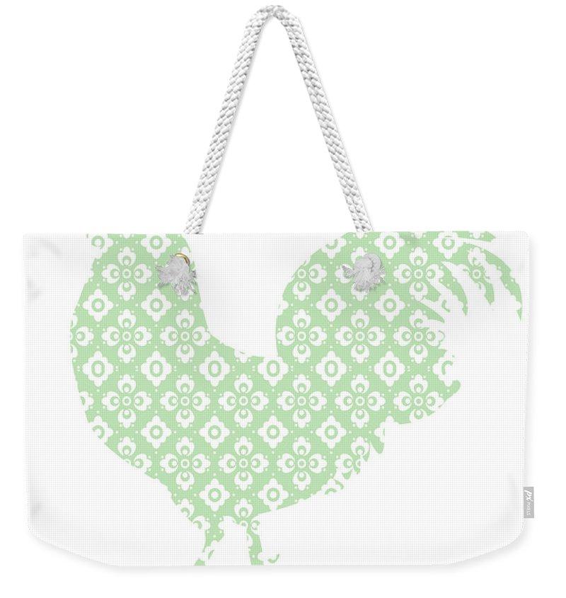 Weekender Tote Bag featuring the digital art Chicken by Adriana Sarathy