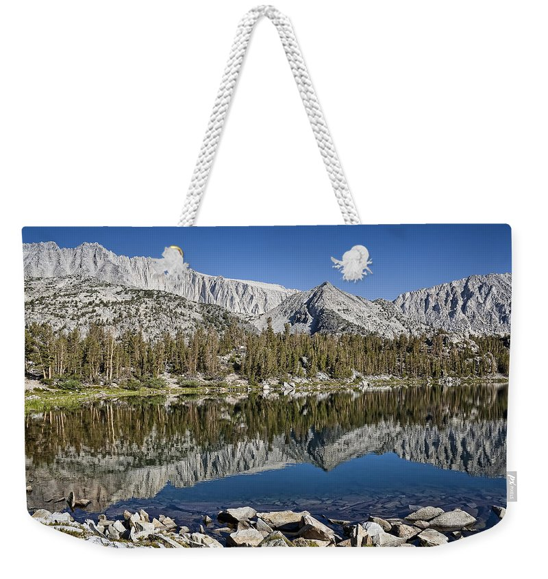 Mountain Weekender Tote Bag featuring the photograph Chickenfoot Lake by Kelley King