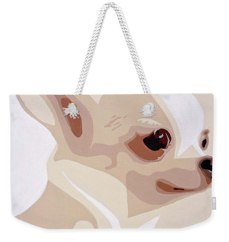 Chihuahua Weekender Tote Bag featuring the painting Chihuahua by Slade Roberts