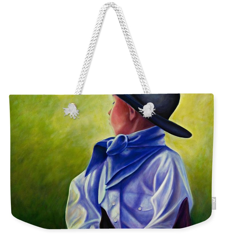 Child Weekender Tote Bag featuring the painting Child by Shannon Grissom