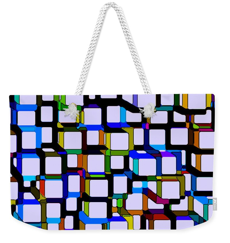 Abstract Weekender Tote Bag featuring the digital art Childhood Memories by Ruth Palmer