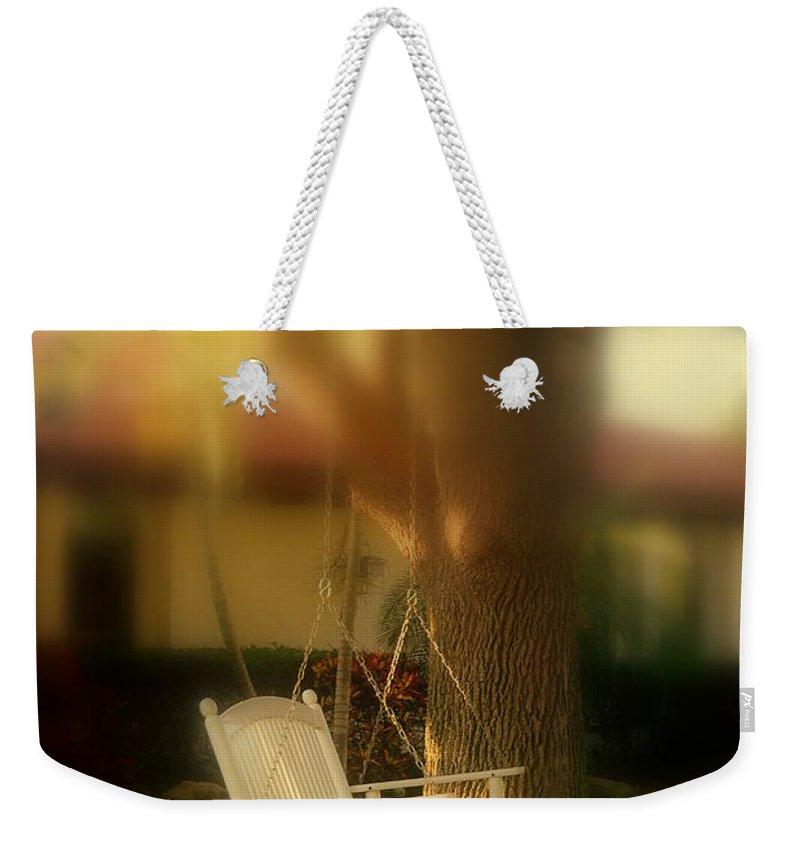 Swing Weekender Tote Bag featuring the photograph Childhood Memories by Susanne Van Hulst