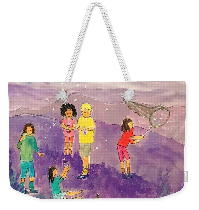 Children Catching Fireflies Weekender Tote Bag For Sale By Anne Sands