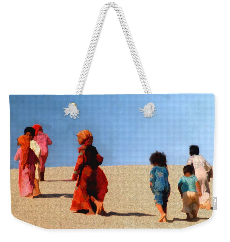 Children Weekender Tote Bag featuring the photograph Children Of The Sinai by Kurt Van Wagner