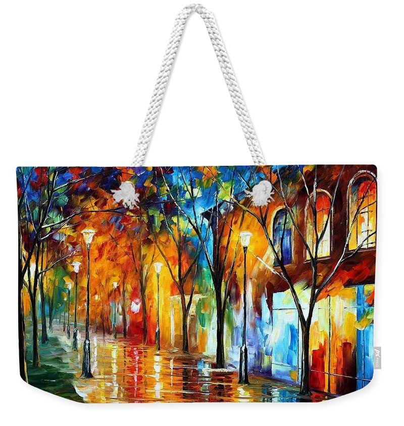 Afremov Weekender Tote Bag featuring the painting Chill Energy by Leonid Afremov