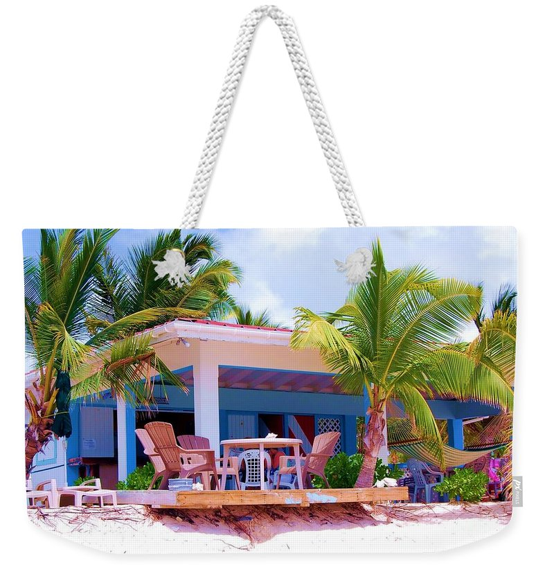 Palm Trees Weekender Tote Bag featuring the photograph Chillin by Debbi Granruth