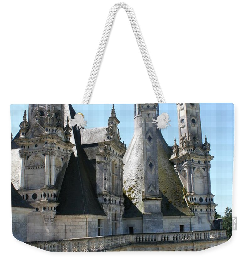 Chimney Weekender Tote Bag featuring the photograph Chimney From Chambord - Loire by Christiane Schulze Art And Photography