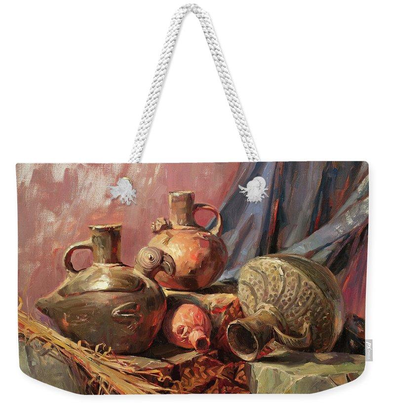 Clay Pot Weekender Tote Bags