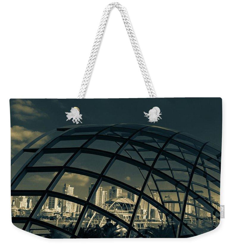 China Weekender Tote Bag featuring the photograph China, Downtown Shanghai by Peter Karakehayov