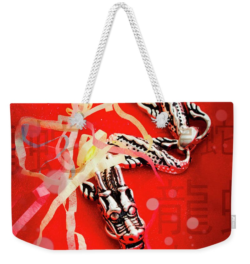 Chinese Weekender Tote Bag featuring the photograph Chinese New Year Background by Jorgo Photography - Wall Art Gallery