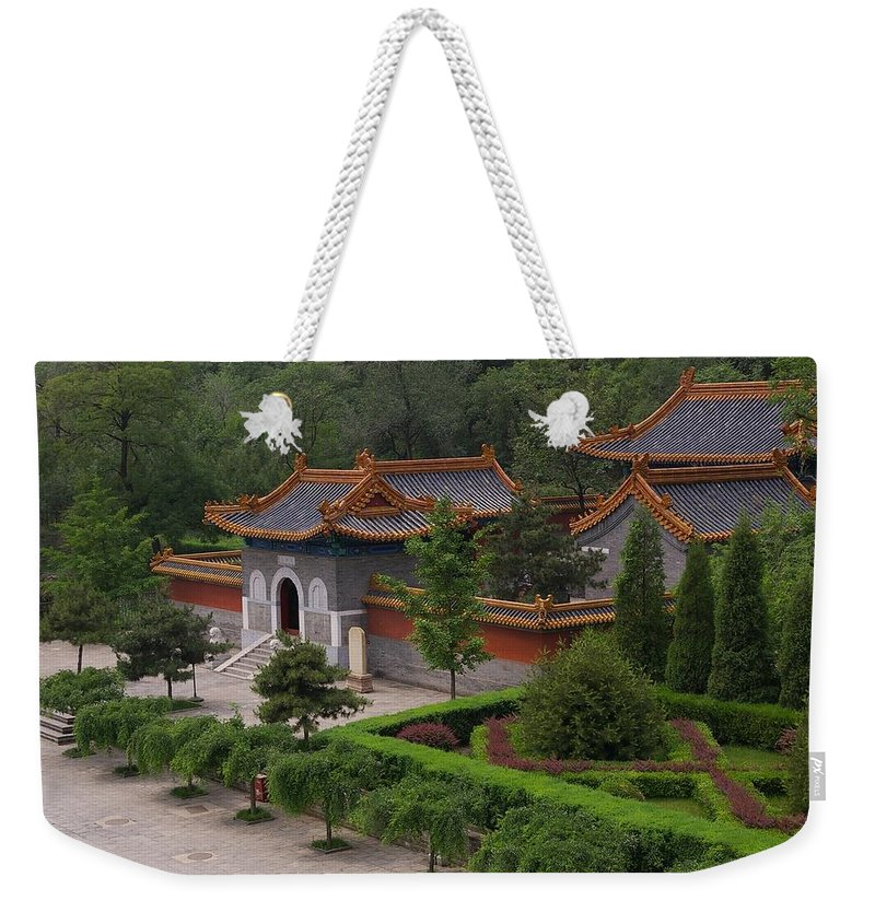 China Weekender Tote Bag featuring the photograph Chinese Palace by Tom Reynen