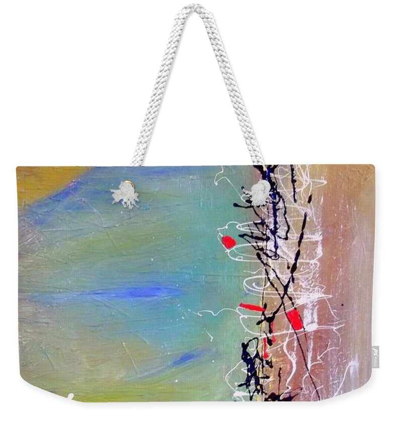 Art Weekender Tote Bag featuring the painting Chinese Whispers by Angie Wright