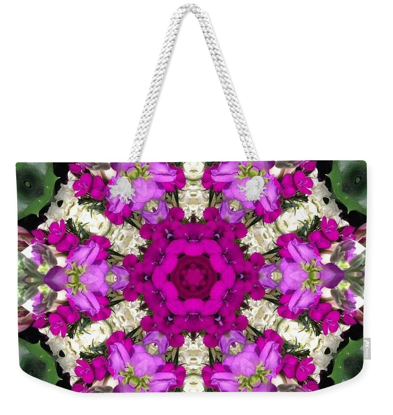Kaleidoscope Weekender Tote Bag featuring the photograph Chinese Women Kaleidoscope by Pamela Picassito
