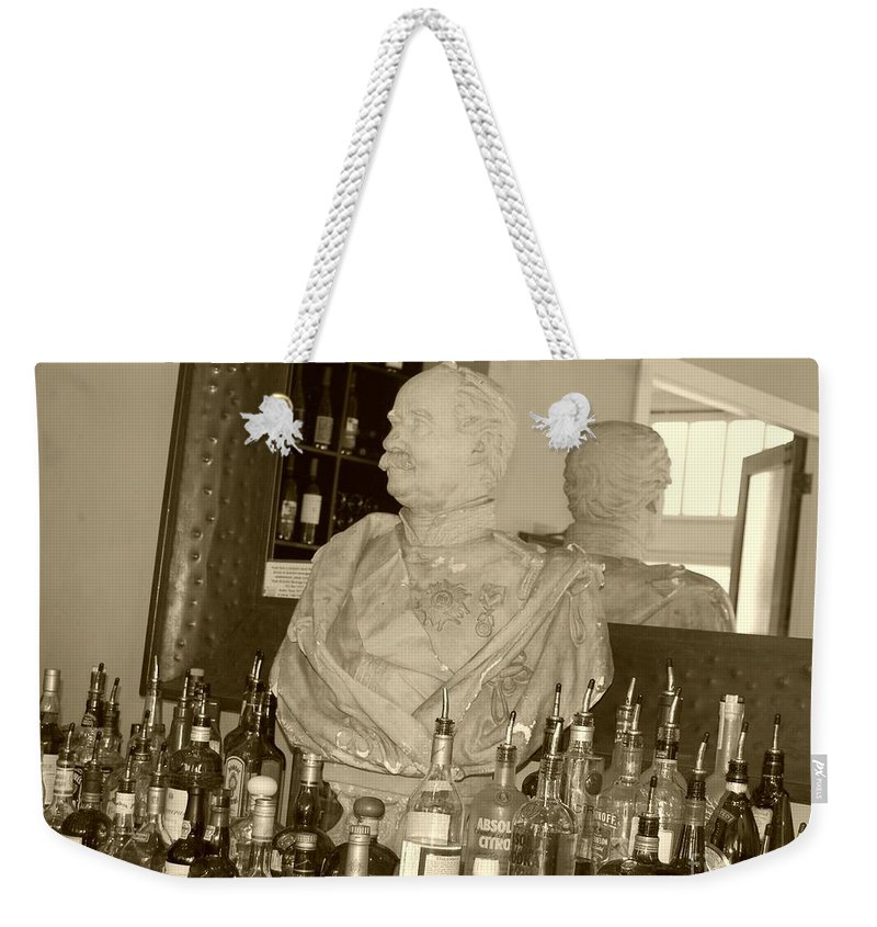 Bust Weekender Tote Bag featuring the photograph Chipped Reflection by Debbi Granruth