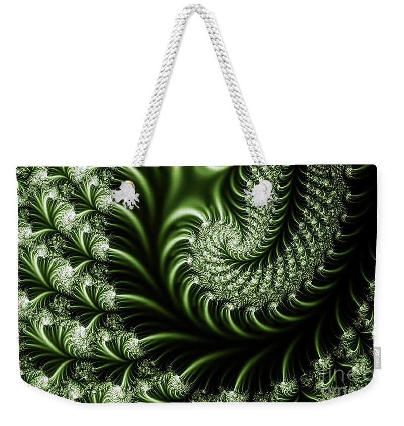 Clay Weekender Tote Bag featuring the digital art Chlorophyll by Clayton Bruster