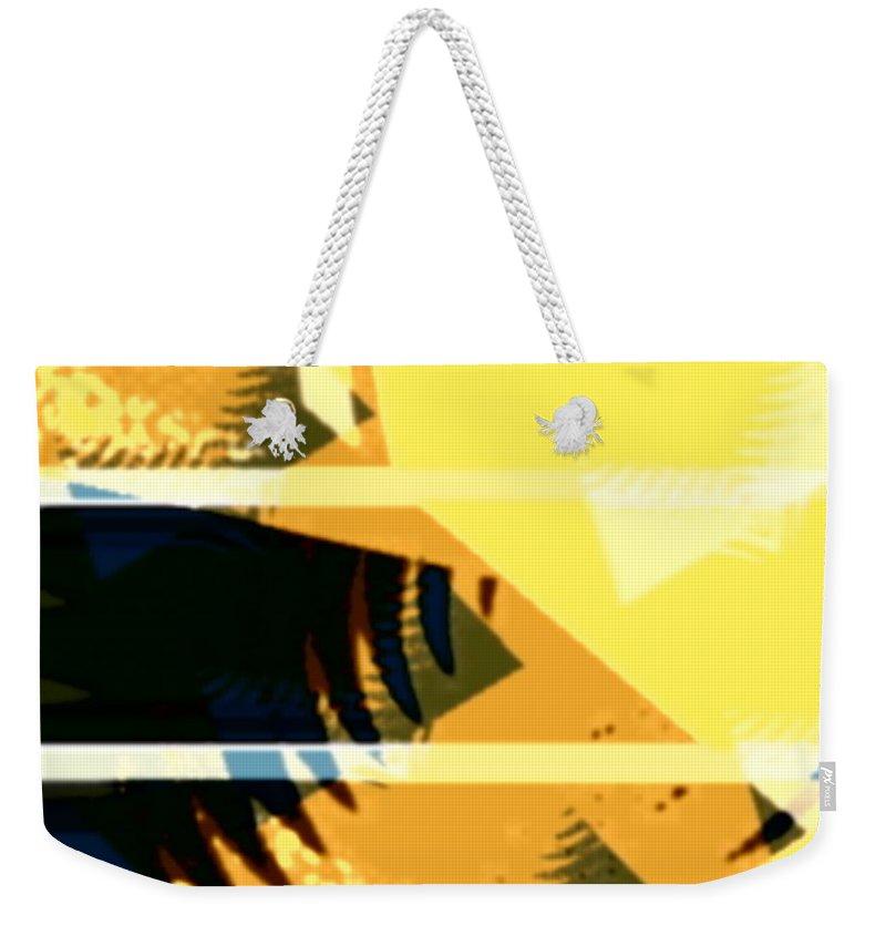 Art Digital Art Weekender Tote Bag featuring the digital art Chnage - Leaf9 by Alex Porter