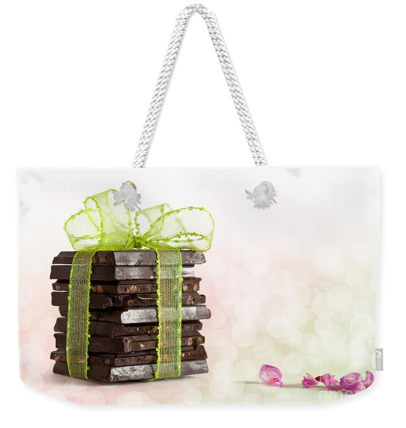 Addiction Weekender Tote Bag featuring the photograph Chocolate by Nailia Schwarz
