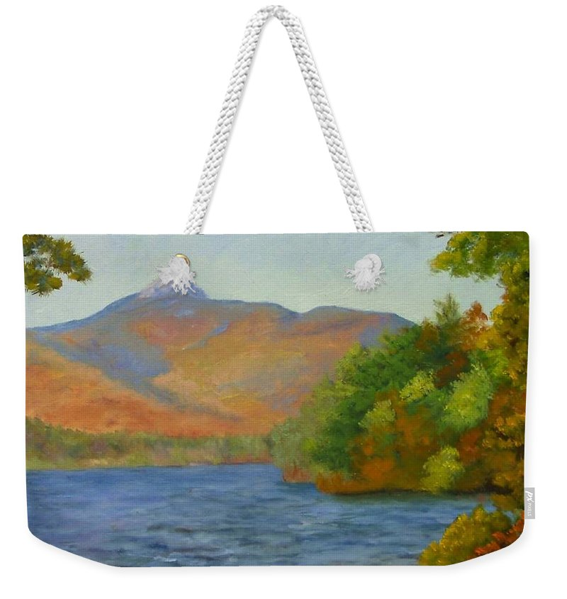 Mount Chocorua And Chocorua Lake Weekender Tote Bag featuring the painting Chocorua by Sharon E Allen