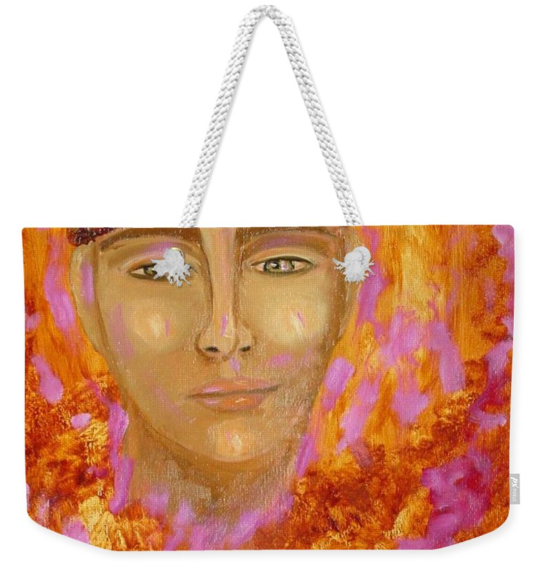 Portrait Weekender Tote Bag featuring the painting Choices by Laurie Morgan