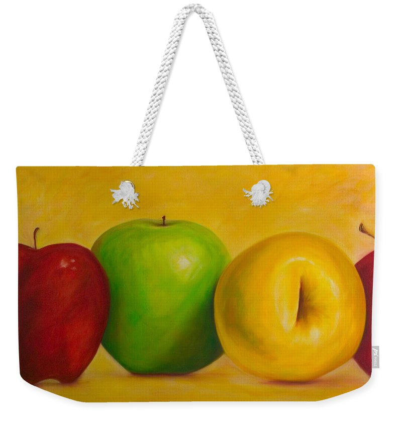 Still Life Weekender Tote Bag featuring the painting Chorus Line by Shannon Grissom