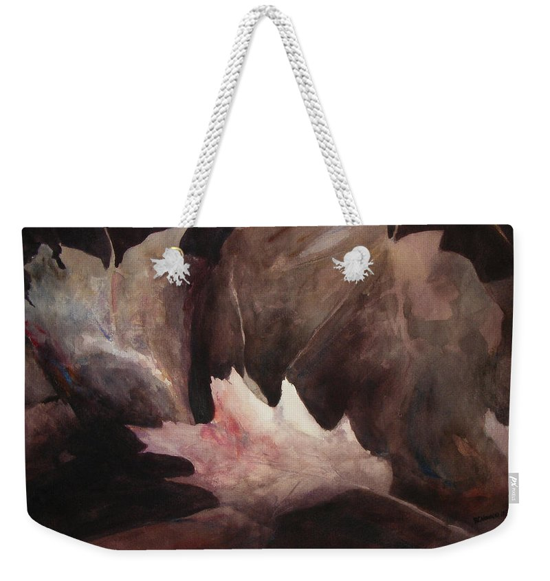 Landscape Weekender Tote Bag featuring the painting Chosen One by Rachel Christine Nowicki