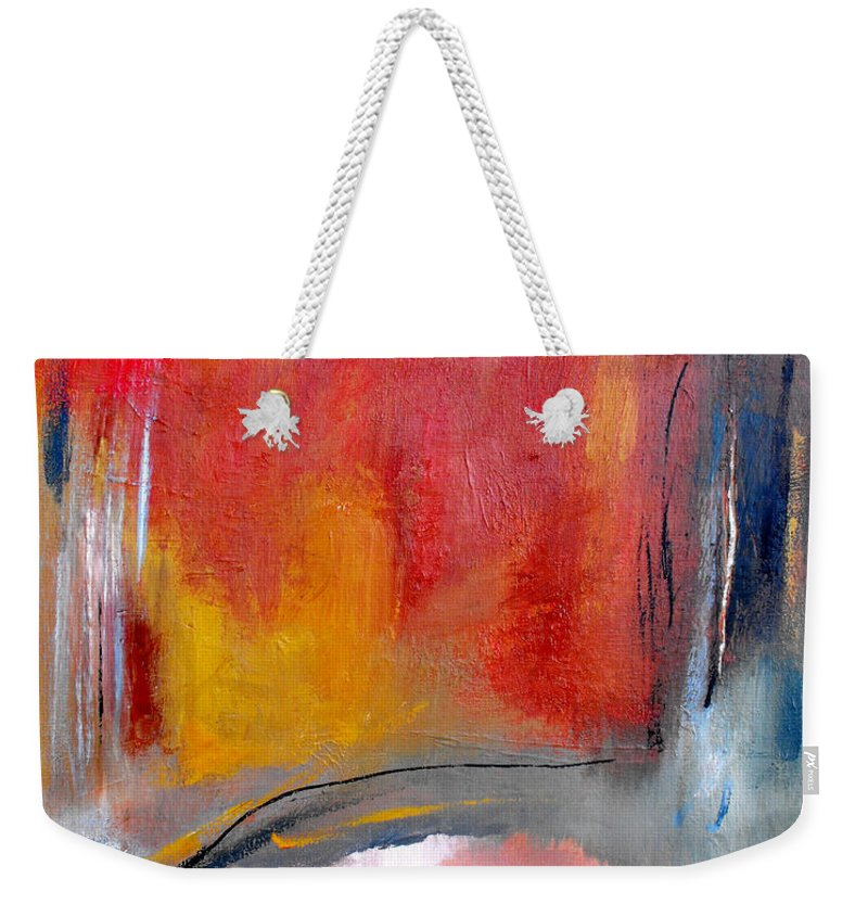 Abstrac Weekender Tote Bag featuring the painting Chosen Path by Ruth Palmer
