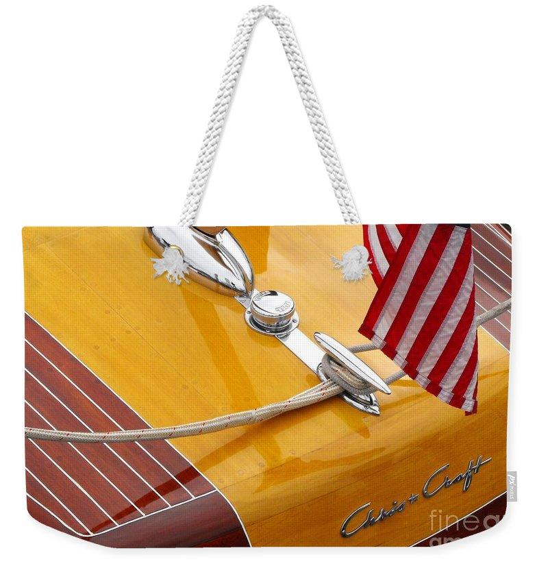 Powerboat Weekender Tote Bags