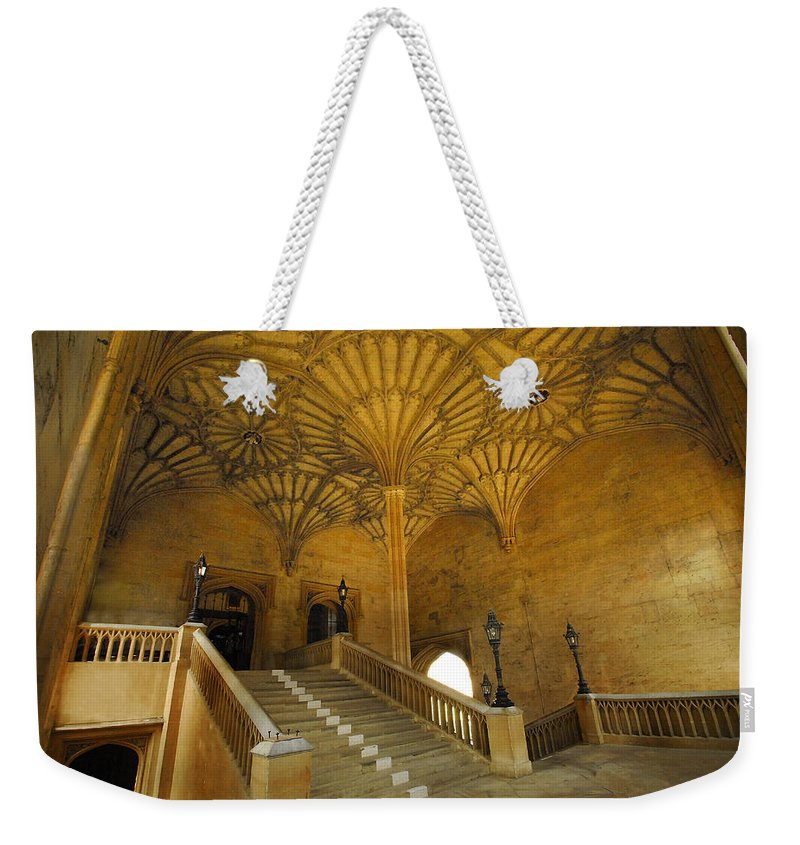 Christ Church Hall Weekender Tote Bag featuring the photograph Christ Church Hall Entry by Carol Berget