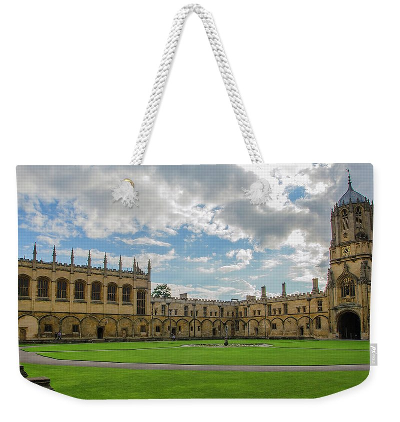 Tom Quad Weekender Tote Bag featuring the photograph Christ Church Tom Quad by Carol Berget