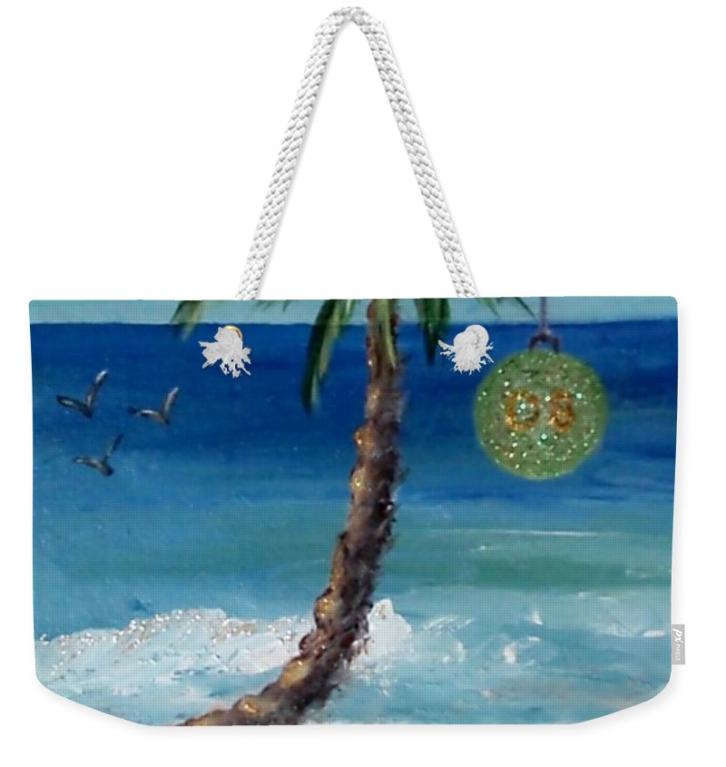 Christmas Weekender Tote Bag featuring the painting Christmas 2008 by Jamie Frier