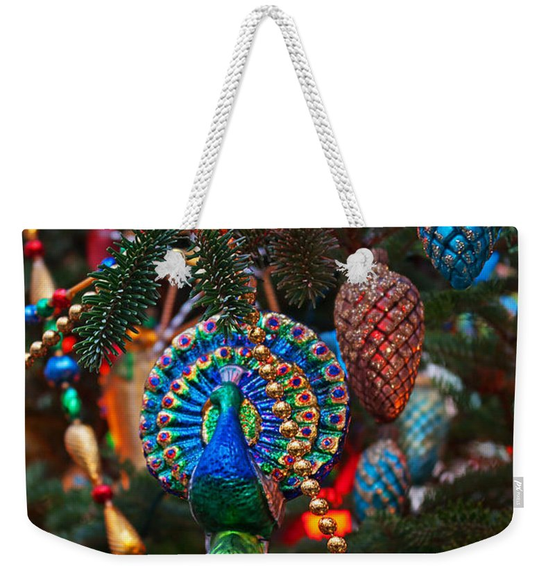 Christmas Weekender Tote Bag featuring the photograph Christmas Bling #1 by Rich Walter
